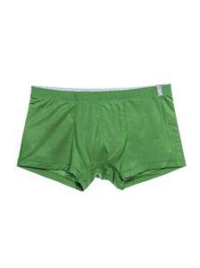 Памучни мъжки боксерки в зелено със сив вътрешен ластик 0505 артикулно отпред