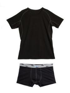 Памучен мъжки комплект от тениска и боксерки 0506 артикулно отпред