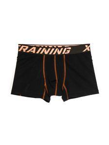 Черно-оранжеви мъжки боксерки 0742 артикулно отпред