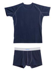 Памучна тениска с риглан ръкав + Боксерки 0506 артикулно отпред