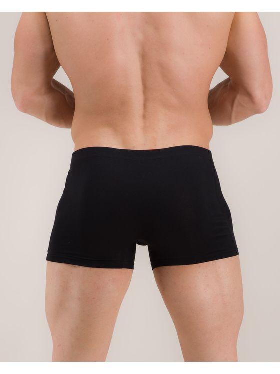 Черни боксерки с вътрешен ластик 0503 на модел отзад