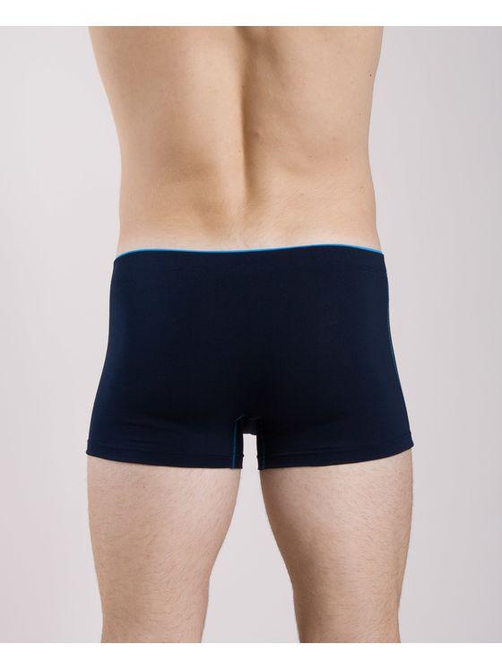 Памучни мъжки боксерки със син ластик 0505 на модел отзад