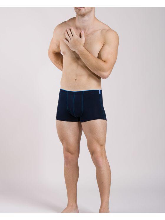 Памучни мъжки боксерки със син ластик 0505 на модел