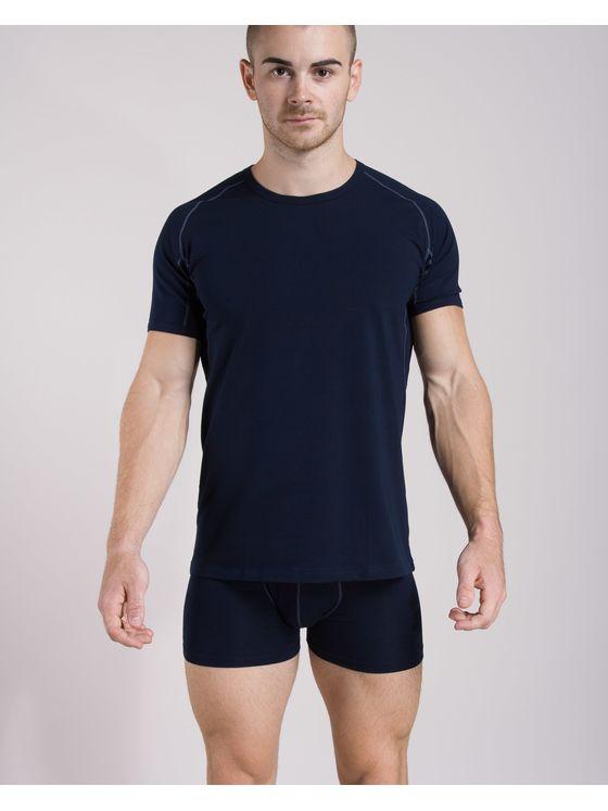 Памучна тениска с риглан ръкав + Боксерки 0506 на модел отпред