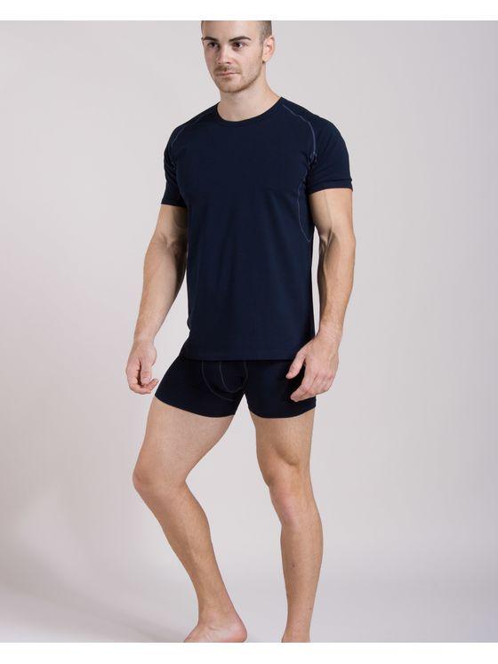 Памучна тениска с риглан ръкав + Боксерки 0506 на модел