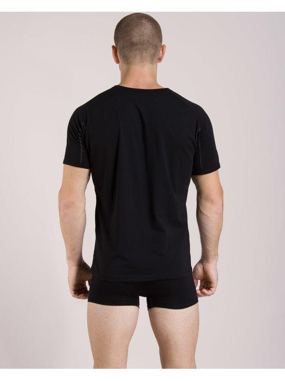 Памучен мъжки комплект от тениска и боксерки 0506 на модел отзад