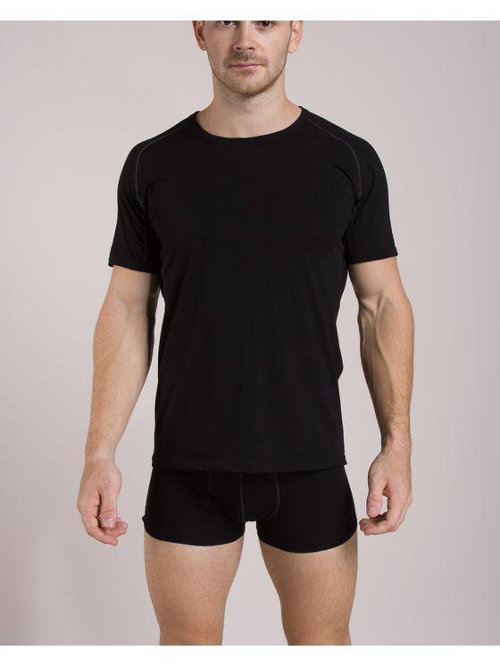 Памучен мъжки комплект от тениска и боксерки 0506 на модел