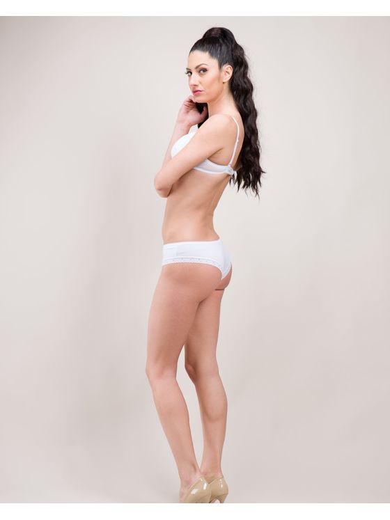 Бяла памучна бразилиана 0715 детайлна снимка