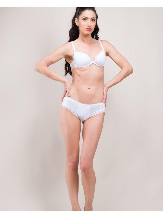 Бяла памучна бразилиана 0715 на модел