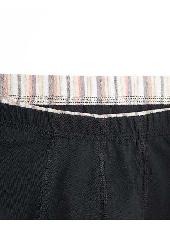 Мъжки боксерки графит с шарен вътрешен ластик 0503 детайлна снимка