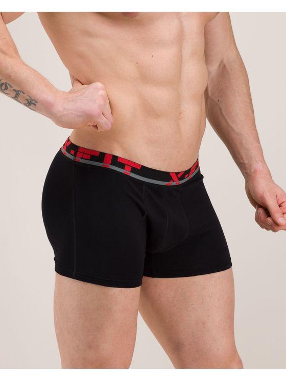 Черни боксерки с памучен EX ластик 0509 на модел отпред