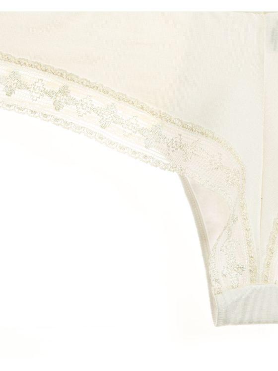 Дамски бикини бразилиана в цвят екрю 0715 допълнителна детайлна снимка