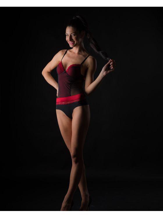 Елегантно дамско боди в червен цвят 1584 допълнителна детайлна снимка