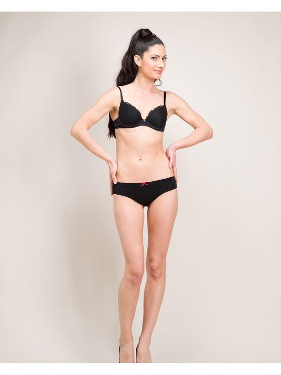 Памучни бикини бразилиана в черно 0609 на модел