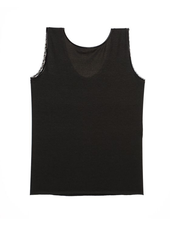 Дамски потник с широки презрамки в черно 0678 артикулно отзад