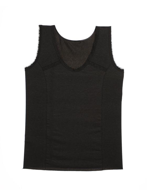 Дамски потник с широки презрамки в черно 0678 артикулно отпред
