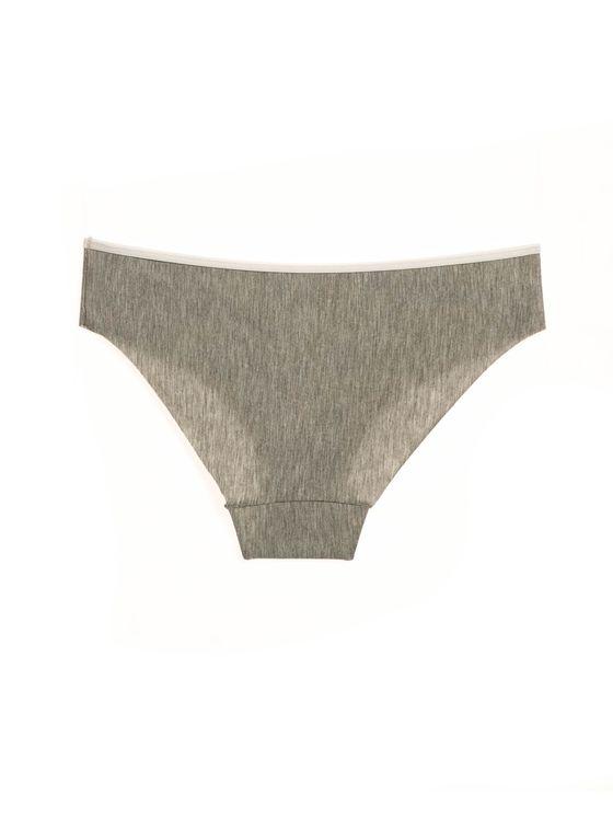 Лазерно изрязани бикини в сиво 0717 артикулно отзад