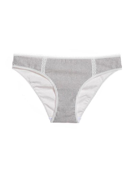 Класически памучни бикини в сиво 0521 артикулно отпред