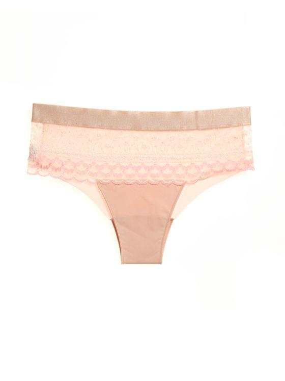 Елегантни бикини в нежно розово 1704 артикулно отпред