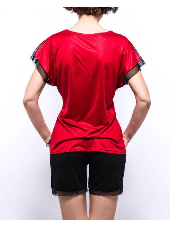 Пижама, 0739, Червена 0739 на модел отпред