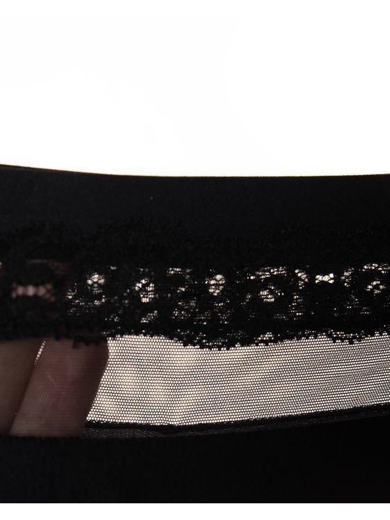 Бикини бразилиана Лазерно рязани, 1701, Черно черен ластик 1701 детайлна снимка