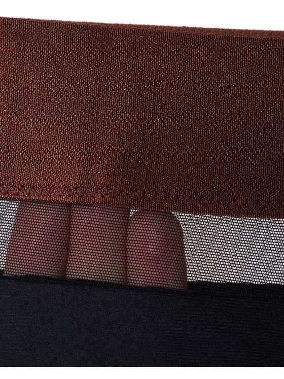 Бикини бразилиана Лазерно рязани, 1701, Черно кафяв ластик 1701 детайлна снимка