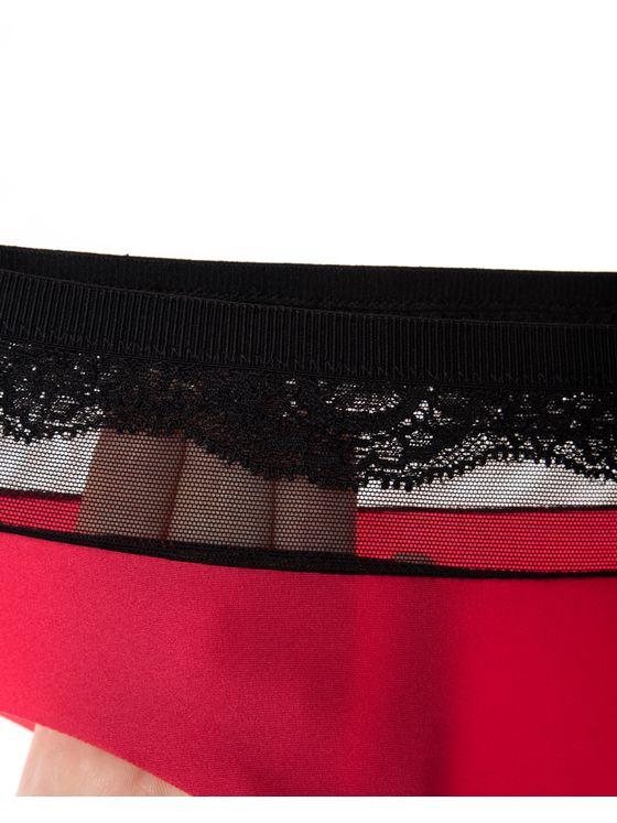 Бикини Лазерно рязани, 1704, Червено черен ластик 1704 детайлна снимка